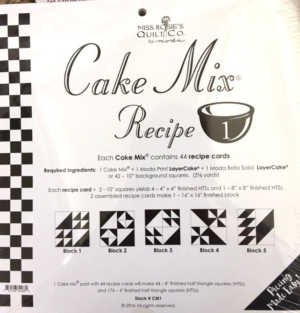 CM1  Miss Rosie's Quilt Co Cake Mix Recipe 1