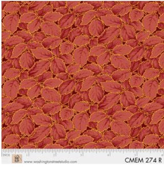 CMEM274R P&B Textiles Christmas Memories Gold Metallic