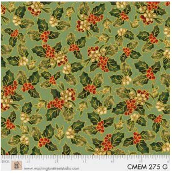 CMEM275G P&B Textiles Christmas Memories Gold Metallic