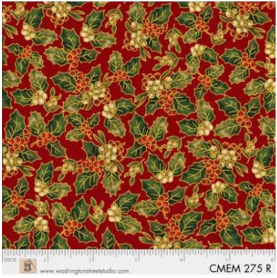 CMEM275R P&B Textiles Christmas Memories Gold Metallic
