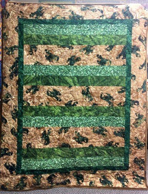 COWBOYMOSS Batik Cowboy Quilt in Moss Green