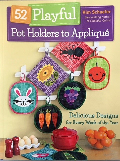 CT11336 52 Playful Pot Holders to Applique by Kim Schaefer