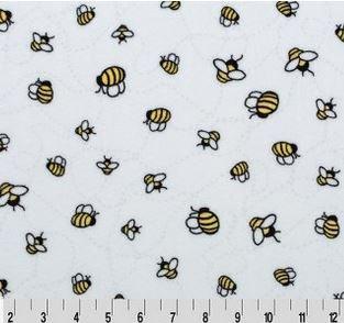 CUD3BZBUZSNSHN Shannon Cuddle Fleece Bees a Buzz Sunshine
