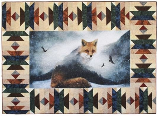 CWBKIT-131-OAK Hoffman of California Call of the Wild Sew Into It Border Kit Aztec Oak