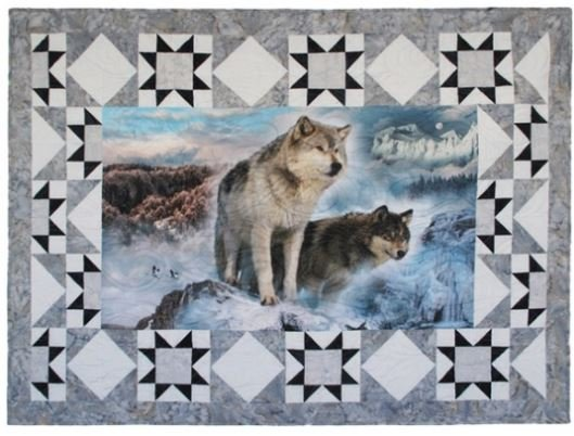 CWBKIT-176-ICE Hoffman of California Call of the Wild Sew Into It Border Kit Ice