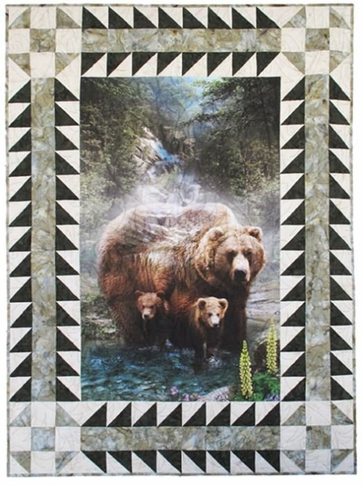 CWBKIT-44-FOREST Hoffman of California Call of the Wild Sew Into It Border Kit Trees Forest