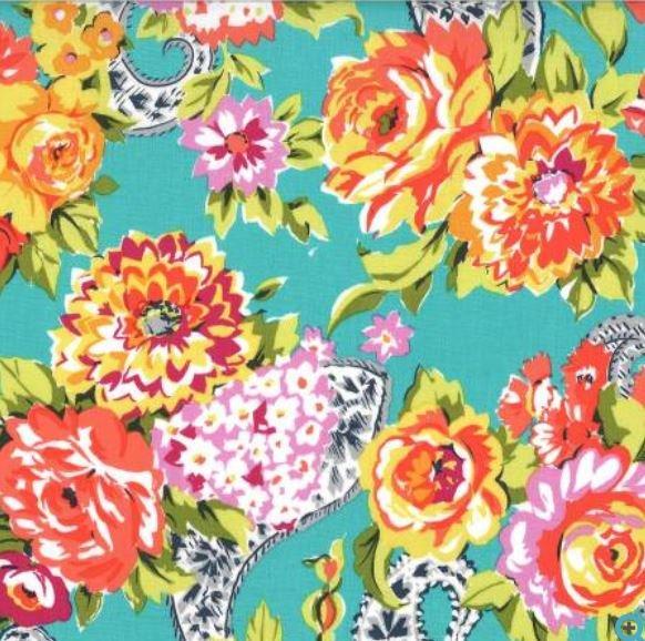 DC7970-GARD Michael Miller Kashmir Gardens Garden Rose
