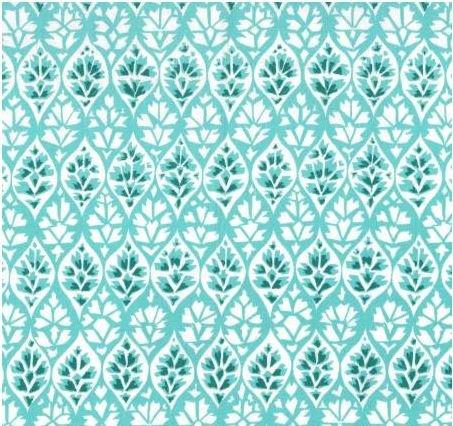 DC7976-TURQ Michael Miller Kashmir Gardens Turquoise Lattice
