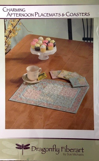 DFHD-11 Dragonfly Fiberart Pattern Cards Charming Placemats & Coasters