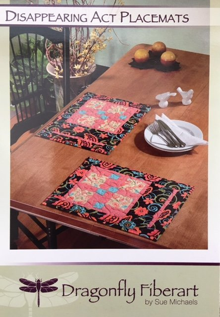 DFHD-16 Dragonfly Fiberart Pattern Cards Disappearing Act Placemats