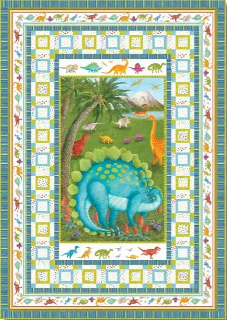 905KIT1  Dino Party-Quilt 1  Blank Quilting Corp.48 x 68