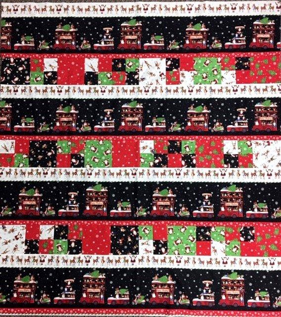 KQDOUBLEDECK Northcott, Double Decker Lap Quilt 50-1/2 x 56