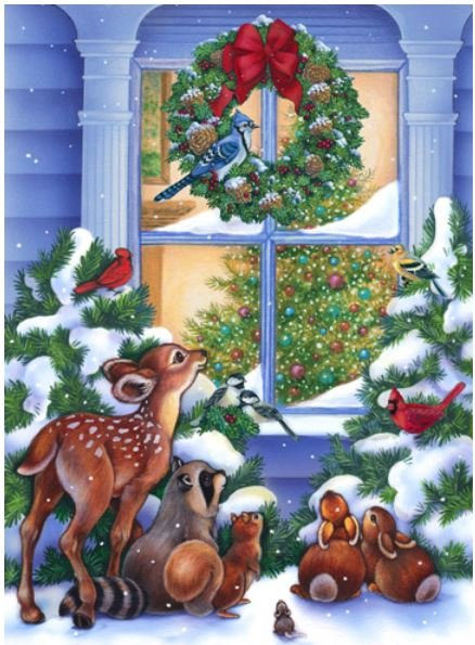 DP21699-10 Northcott Magic of Christmas Digital Panel