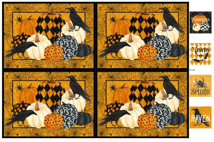 DP22878-54 Northcott Raven's Claw Digital Print Placemats Panel 28 x 42