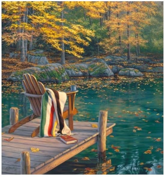DP22985-46 Northcott On Golden Pond Panel 43 in square