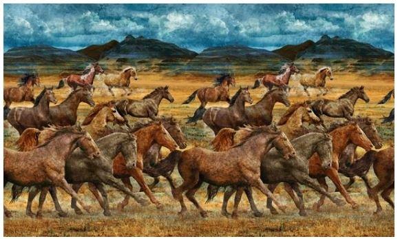 DP23031-34 Northcott Wild Horses, Running Yardage
