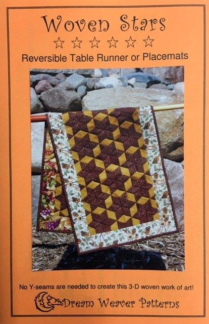 DWPWSR Dream Weaver Patterns Woven Star Reversible Table Runner