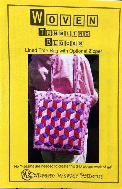 DWPWTBT Dream Weaver Patterns Tumbling Blocks Tote Bag