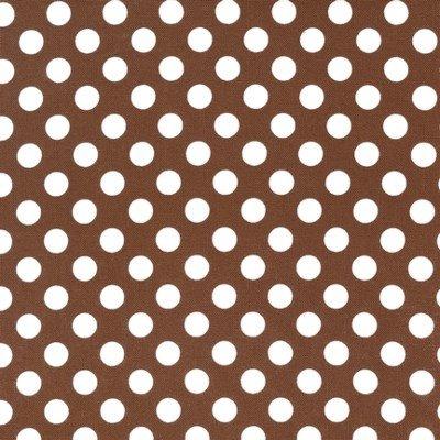 EZC-12872-16 Robert Kaufman Spot On Brown & White Dots
