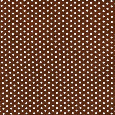 EZC-12873-167 Robert Kaufman Spot On Brown & White Mini Dots