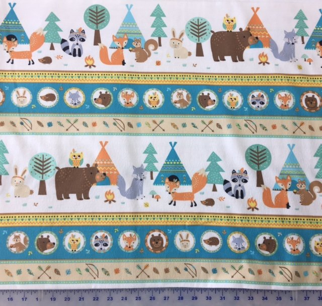 F31350-11 Northcott Flannel Teepee Time Border Print