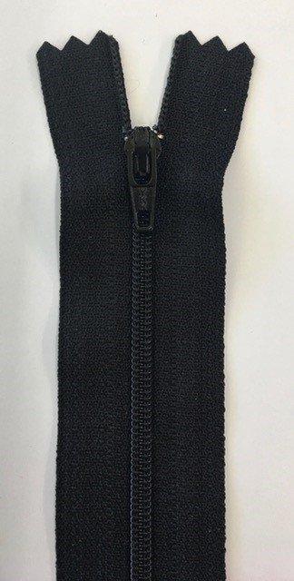 F5030-BLK, YKK, Non-Seperating Zipper, 30 inch Black