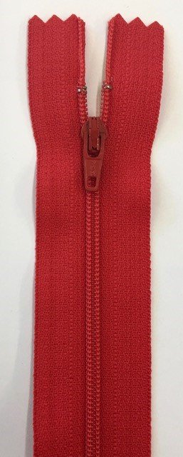 F5030-RED, YKK, Non-Seperating Zipper, 30 inch Red