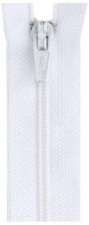 F5030-WHT, YKK, Non-Seperating Zipper, 30 inch White
