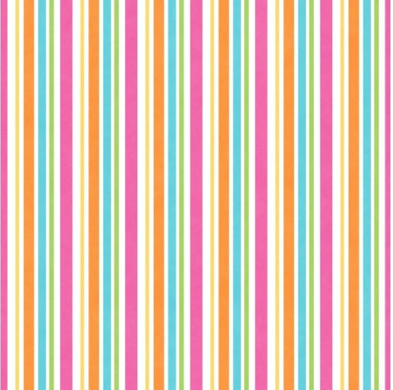F6698-21 Cuddle Bugs Henry Glass Pink Orange Blue and Green Stripe Flannel