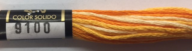 F9100 Presencia 100% Mercerized Finca Varigated Cotton 6 ply Embroidery Floss 8 meter skein