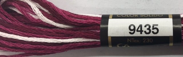 F9435 Presencia 100% Mercerized Finca Varigated Cotton 6 ply Embroidery Floss 8 meter skein
