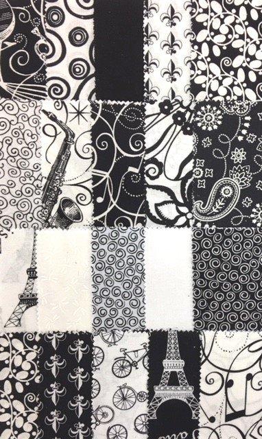FABR0BWSQ Black & White 40 - 5 Charms
