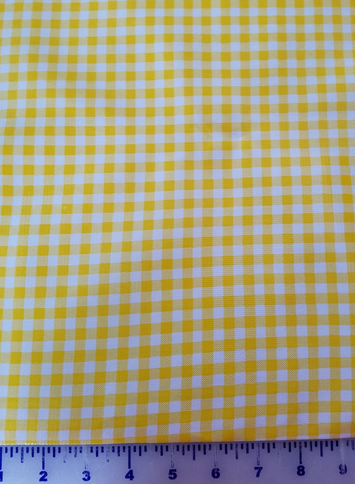 R119 Oilcloth 48 wide Gingham Yellow