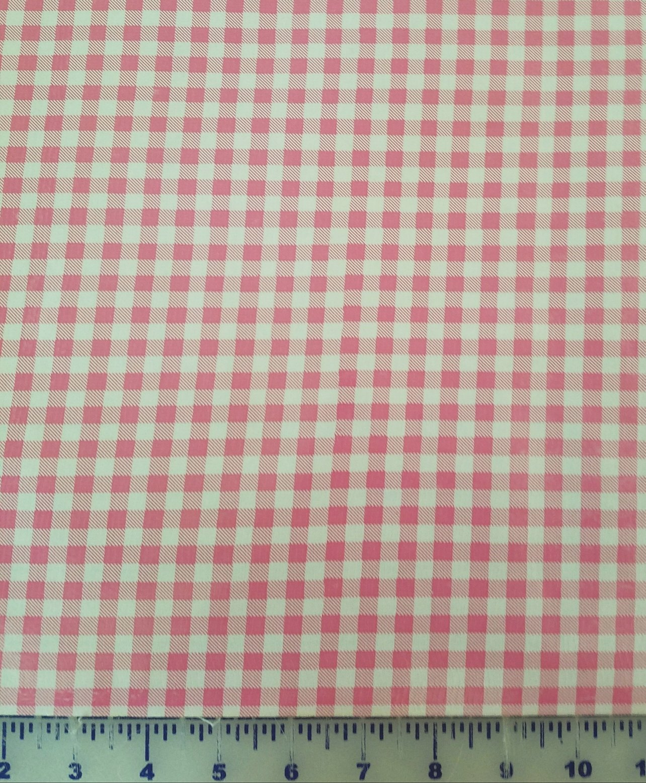 R123 Oilcloth 48 wide Pink Gingham