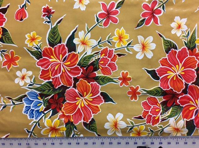 R199 Oilcloth 48 inch wide Hawaii Tan