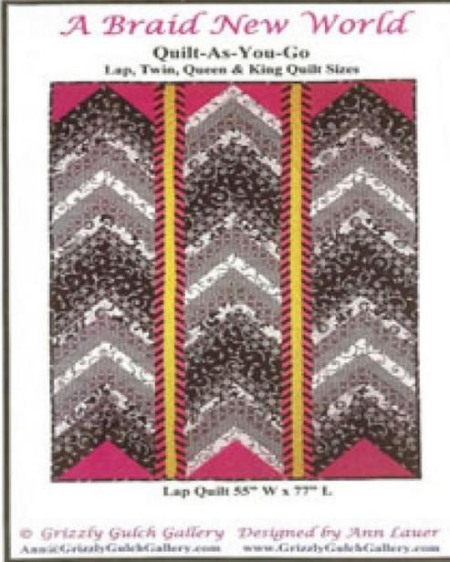 GGGBNW  Grizzly Gulch Gallery A Braid New World Fusible Applique