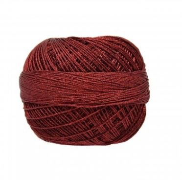 HAHHM20324 Handy Hands Lizbeth 6-cord cordnnet thread sz 20 Christmas Red