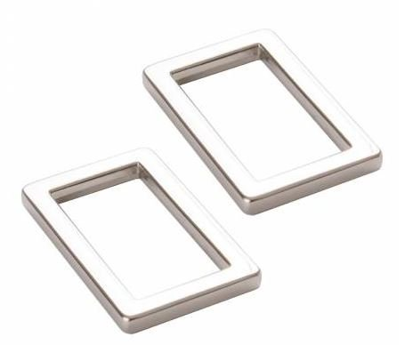 HAR1.5RRNTWO, By Annie, Rectangle Ring Flat 1 1/2 in Nickel Set of Two