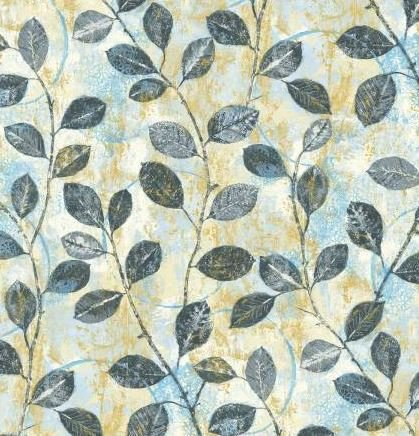 HARM157-MU P & B Textiles Harmony Multi Harmony Leaves w/Metallic