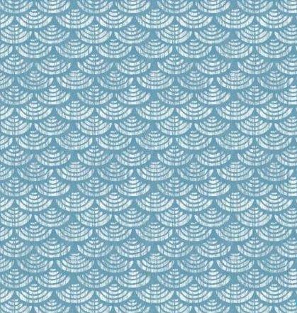 HARM162-B P & B Textiles Harmony Blue Geometric w/Metallic