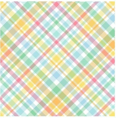 HEG1842-21, Henry Glass, Down on Bunny Farm Multi colored Plaid