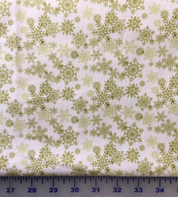 HEG8762-46 Henry Glass Glad Tidings Cream Snow Flakes