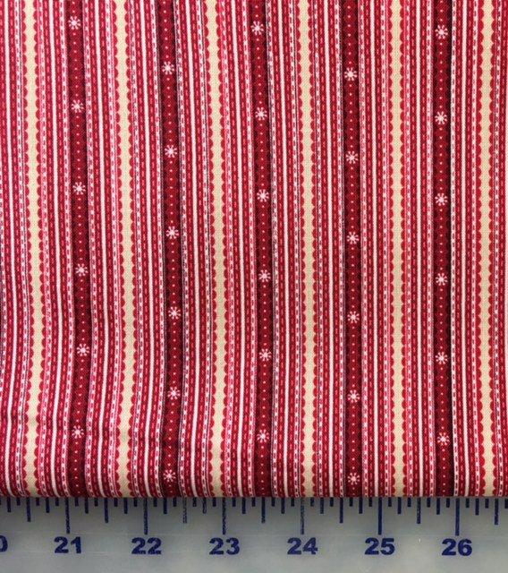 HEG8763-88 Henry Glass Glad Tidings Red Stripe