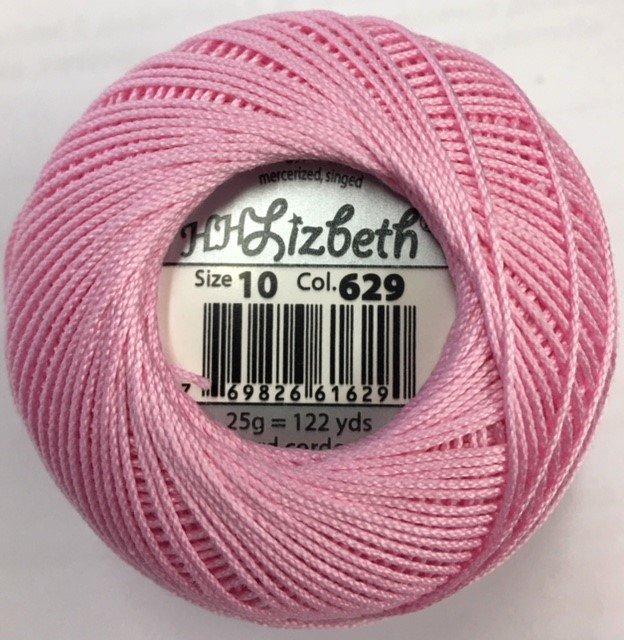HHS10-629 Handy Hands Lizbeth 6-cord cordnnet thread sz 10 Azalea Pink