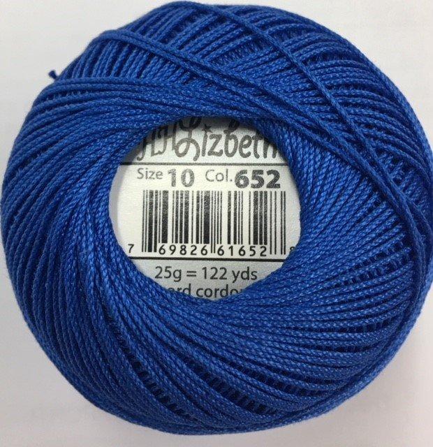 HHS10-652 Handy Hands Lizbeth 6-cord cordnnet thread sz 10 Royal Blue
