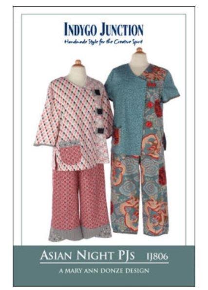 IJ806 Indygo Junction Asian Night Pajama Pattern