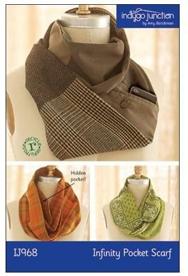 IJ968 Indygo Junction Infinity Pocket Scarf Pattern