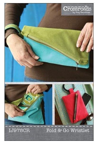 IJ978CR Indygo Junction Fold & Go Wristlet Bag