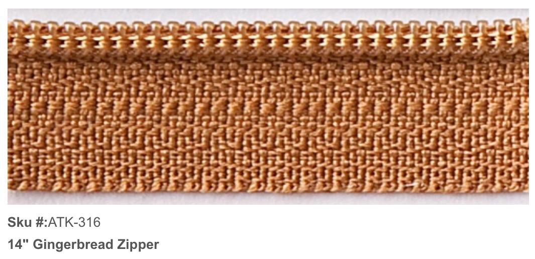 ATK-316 Zipper 14 Gingerbread