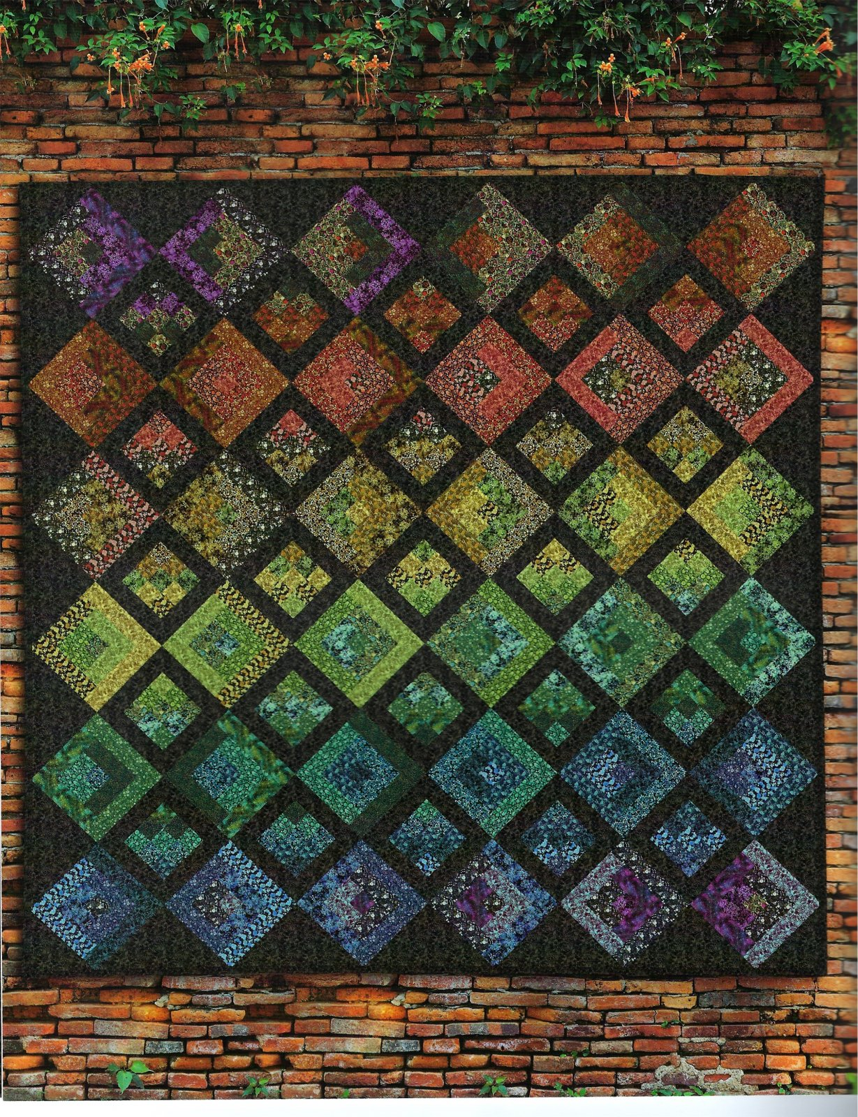 ITBGARDTRES In the Beginning Garden Treasures Quilt Kit, 85-1/2 by 85-1/2
